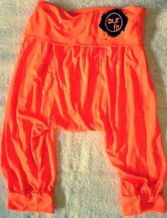 Our Fit Fluro Orange Harem Yoga Genie Pants