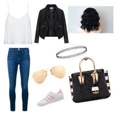 """""""Untitled #8"""" by sintija-tumblr on Polyvore featuring Alice + Olivia, Frame Denim, adidas Originals, Zizzi, Ray-Ban, MCM, women's clothing, women, female and woman"""