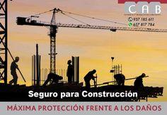 #Seguro para #Construcción. Máxima protección frente a los daños que puede sufrir una obra de construcción. #CABcorredoriaSegurosBaricentro.