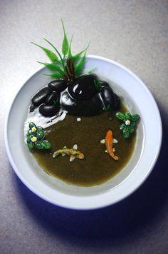 Tea Bowl Miniature Koi Pond Amateur Resin Pond Mini by SumiSprite