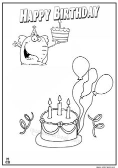 28 Best Birthday Coloring pages images | Birthday coloring ...
