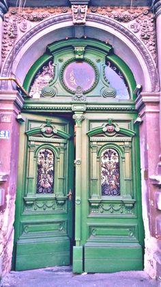 in Timisoara, Romania - Jagory Hartova -Door in Timisoara, Romania - Jagory Hartova -You can find Romania and more on our website.in Timisoara, Romania - Jagory Hartova. Cool Doors, Unique Doors, The Doors, Windows And Doors, Front Doors, Door Entryway, Entrance Doors, Doorway, Entrance Signage