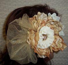 Dreamy Vintage Oversized Flower headband. by RaRasRuffleBoutique, $20.00