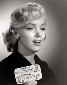 Marilyn Monroe - November 8, 1952 - in Gentlemen Prefer Blondes - hair and makeup test