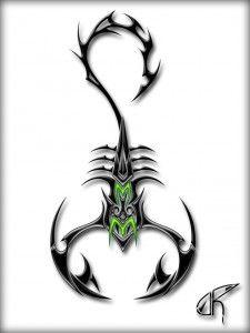 Эскизы тату скорпион   ТриТатушки