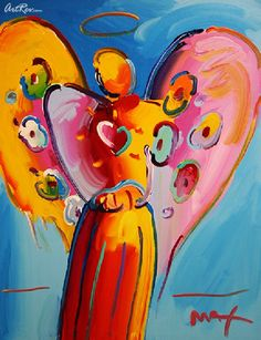 Angel with Heart by Peter Max.