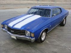 1972 CHEVROLET CHEVELLE MALIBU CUSTOM 2 DOOR COUPE except for the color, this reminds me of my chevelle in High School