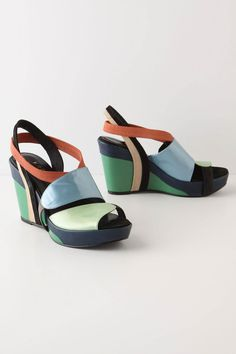 Muted Turns Wedges - Anthropologie