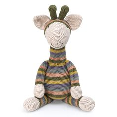 Goofy giraffe - STOFF  STIL Giraffe Crochet, Kit, Clutch, Crochet Accessories, Crochet For Kids, Easy Peasy, Free Pattern, Create Your Own, Dinosaur Stuffed Animal