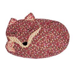 Sass & Belle Vintage Fabric Sleeping Fox Cushion with Inner