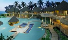 want Maldives Resort, Pool Landscaping, Pool Houses, Lighting, Beautiful Homes, Outdoor Decor, Home Decor, Luxury, Amazing