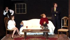 Rehearsing Erotica Neurotica, a comedy by Norman Rhodes. Sargent Theatre, NYC. Directed by Andre Kirchner Dion.