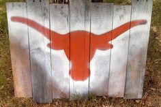 Rustic Texas Longhorn Wood Pallet Wall Hanging by TexasWoodsWorks