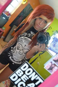 luciidkitties love this so much. Doing something similar soon with the blonde bangs and red. Emo Scene Hair, Emo Hair, My Hairstyle, Cool Hairstyles, Scene Hairstyles, Blonde Bangs, Emo Bangs, Cute Emo Girls, Long Gray Hair
