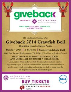 Get your tickets today. They are going fast. Buy them today at http://www.htstaffing.com/giveback. We will sell out.