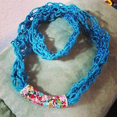 Treasures Made From Yarn: Solomon Knot Necklace... Free pattern!