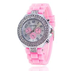 gemdivine.com fashion-silicone-band-watch-with-crystals
