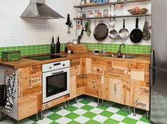 Kitchen design recycled cabinet doors