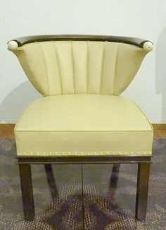 J.J.P. Oud ~ Prototype chair for Royal Dutch Shell ~ Manufactured by Mutters ~ Mahogany and upholstery ~ 1947