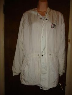 This Jacket is White  with a hood in a size M  FREE Shipping  Check out my other items here  http://yardsellr.com/yardsale/Marla-Jones-198554