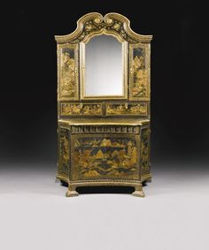Northern European black and gilt japanned cabinet, mid 18th century from Torbenfeldt Castle, Sealand, previously called Frydendal Castle. est. £ 50,000 - 100,000