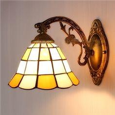 Tulipe Tiffany Verre abat jours Deux lampes Blanc Finition Lampe
