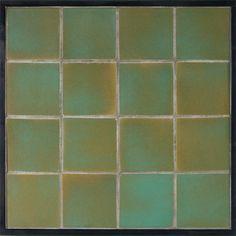 Hand Painted Ceramic Tile Clay Arabesque Segovia