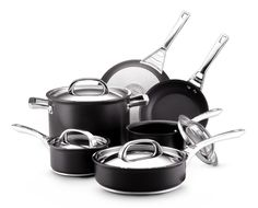best non stick cookware Circulon Infinite Hard Anodized Nonstick  Cookware Set, 10 piece