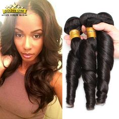 Find More Human Hair Extensions Information about Top 8A Virgin Peruvian Loose Wave Hair 3pcs Unprocessed…