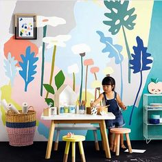 Painted wall backdrop