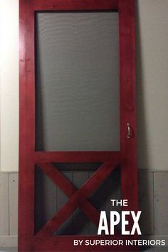 New- The Apex Quality Built Solid Wood Screen Doors Custom Made To Your Measurements - Rustic Modern Farmhouse - Barn Door Style Screen Door