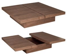 Stylish Coffee Tables That Double As Storage Units Wood coffee