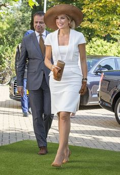 """14 September 2016 - Queen Maxima attends the """"Postcode Lottery Green Challenge"""" in Amsterdam - dress by Gucci"""