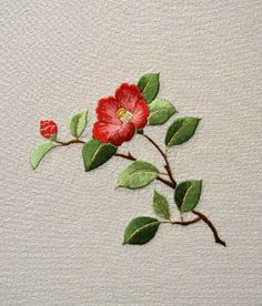 . embroidery flower aa