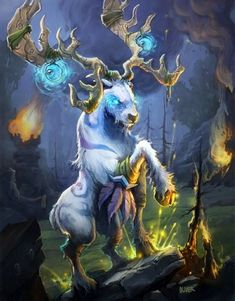 Malorne – Hearthstone: Heroes of Warcraft Wiki, – World Of Games Mythical Creatures Art, Mythological Creatures, Magical Creatures, Cervo Tattoo, Fantasy World, Fantasy Art, Final Fantasy, Hearthstone Heroes Of Warcraft, Character Art