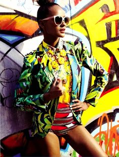 Vogue Brazil editorial featuring Brazil's own beauty Gracie Carvalho.