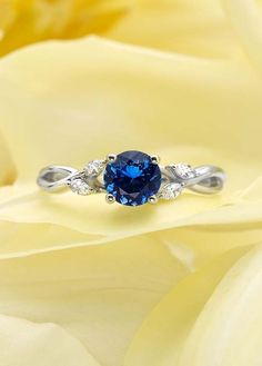 Jewelry Rings Sapphire Ring - Wispy vines of precious metal entwine toward lustrous marquise diamond buds in this nature-inspired trellis ring. Sapphire Diamond, Diamond Rings, Marquise Diamond, Ruby Rings, Gemstone Rings, Silver Rings, Sapphire Jewelry, White Sapphire Rings