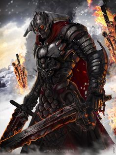 Skull Knight by Rob Shields | Fantasy | 2D | CGSociety