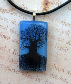 Blue Skies Mighty Tree Of Life Fused Glass Pendant ( Etsy:: http://www.etsy.com/listing/79004529/blue-skies-mighty-tree-of-life-fused# )