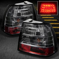 Smoked LED Tail Brake Lights Lamps Left Right