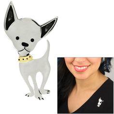 I Love Chihuahua Pin