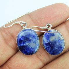 Sodalite Sterling Silver Earrings – Jewels Exports