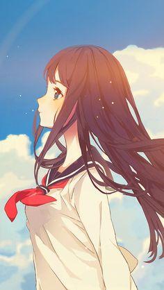 freeios8.com - ar11-cute-girl-illustration-anime-sky-flare - http://bit.ly/2gjPoJB - iPhone, iPad, iOS8, Parallax wallpapers