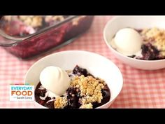 Summertime Blueberry Crumble - Everyday Food with Sarah Carey
