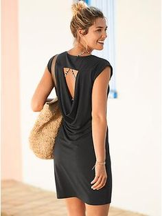 Charisma Dress - Lightweight, beyond-silky fabric in a muscle-tee-inspired silhouette with a dare-we-say low back.