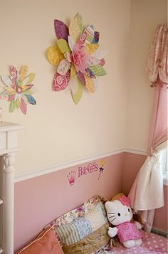 YES! Cute wall flowers made from scrapbook paper