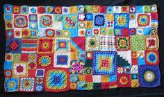 idee voor volgend jaar... elke dag een vierkantje haken, dan heb je op't eind van het jaar een fantastisch deken!