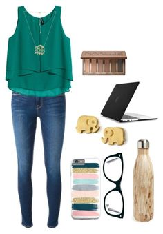 """""""35 more days of math!!(cause homeschoolers are lucky and finish early:)"""" by evedriggers ❤ liked on Polyvore featuring Frame Denim, H&M, Ray-Ban, Dogeared, S'well, Urban Decay and Speck"""