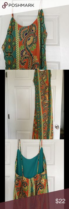 Printed backless maxi dress Printed floaty maxi dress with open back. Francesca's Collections Dresses Maxi