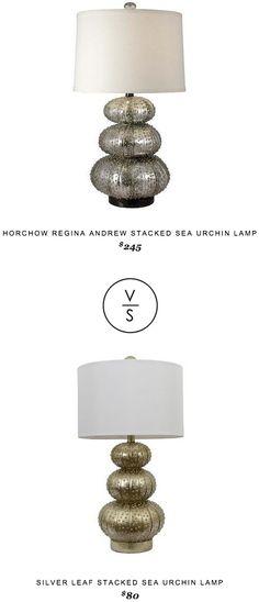 Horchow Regina Andrew Stacked Sea Urchin Lamp $245 vs Target Silver Leaf Stacked Sea Urchin Lamp $80